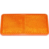 CATADIOPTRE RECTANGULAIRE 94X44 ADHESIF ORANGE