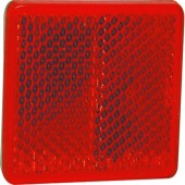 CATADIOPTRE RECTANGULAIRE 57X40 ADHESIF ROUGE