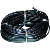 GAINE PVC NOIR D.INT.12MM (100M) LE METRE
